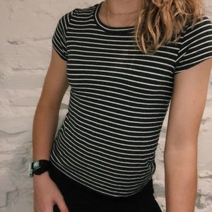 American Eagle Soft and Sexy Striped T-Shirt SizeS